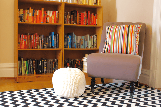 How to knit a floor pouf