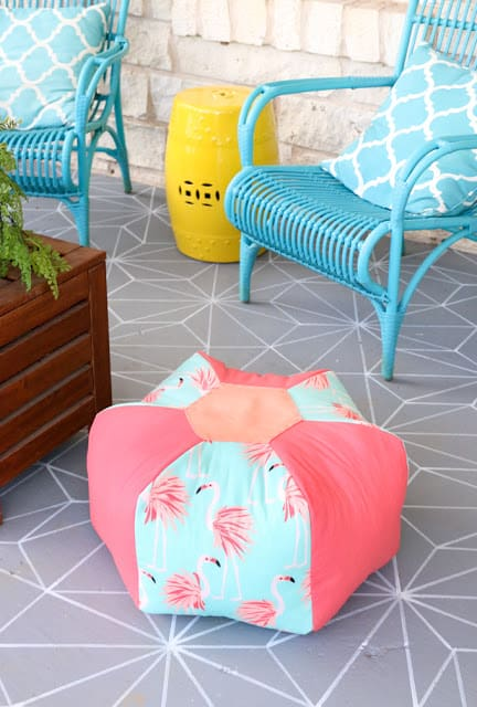 DIY Outdoor Pouf
