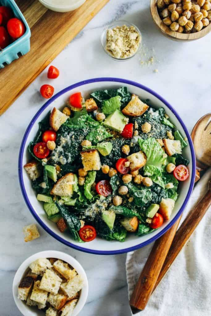 Best vegan kale caesar salad recipe