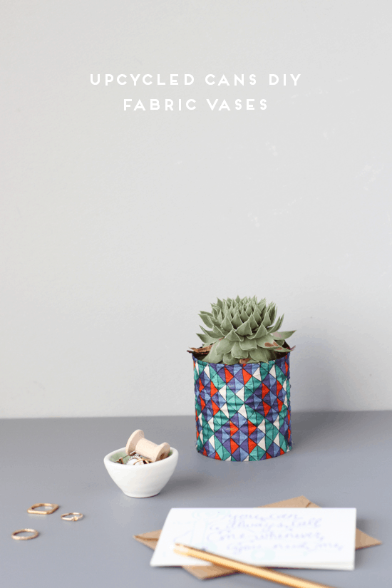 DIY upcycled tin can vases