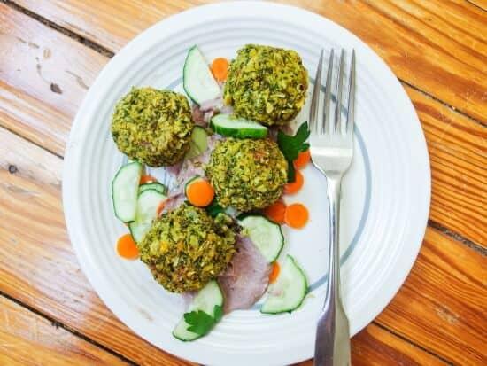 Baked vegan kale falafel recipe