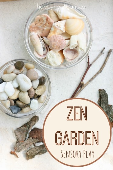 Garden Sensory Bin idea for kids
