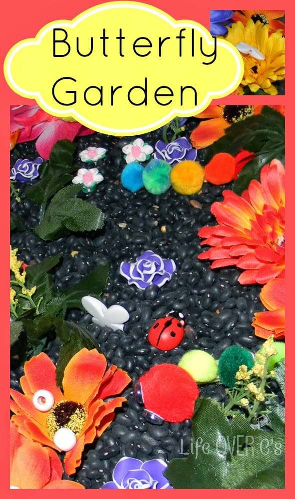 Butterfly garden sensory play ideas