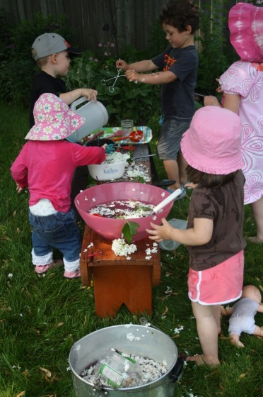 Garden Soup outdoor play ideas for toddlers